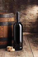 fles rode wijn foto