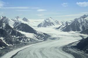 gletsjer, st elias range, canada
