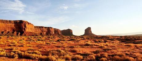 panoramisch van monument valley formatie foto