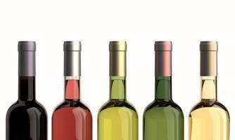 flessen wijn foto