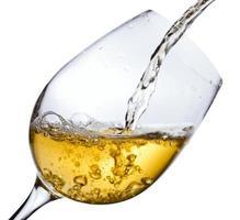 witte wijn, opgeslagen uitknippad foto