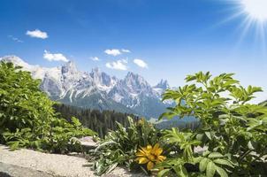 panorama van de pale di san martino