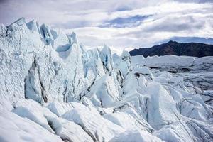 alaska gletsjer - matanuska foto