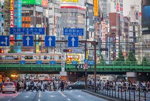 Tokyo Shinjuku Station is 's werelds drukste treinstation foto