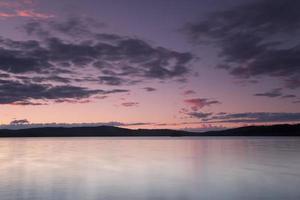 Lake Nitten in Dalarna, turbines in de verte