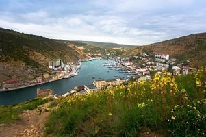 Balaklava stad op de Krim