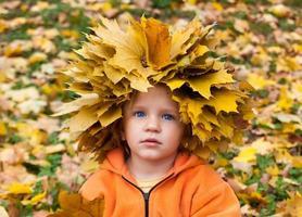 herfst klein kind