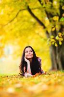 herfst vrouw