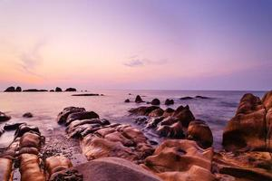 co thach strand in zonsopgang, binh thuan, vietnam