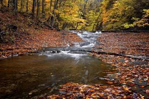 herfst waterval foto