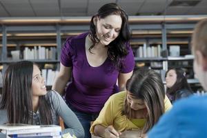 leraar en studenten