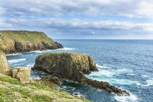 het land eindigt de kustlijn van Cornwall