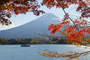 fuji en herfstseizoen
