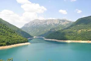 pivsko lake, montenegro.