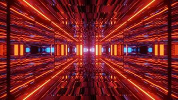 futuristische rode 3d illustratie achtergrond