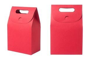 rode papieren zak