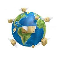 verzending wereldwijd, planeet, foto