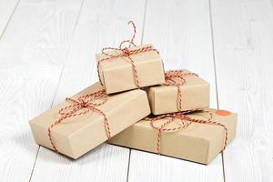 kerst roestige geschenkdoos