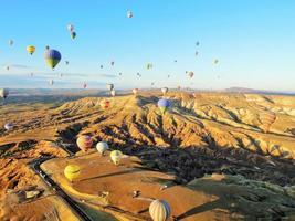 hete luchtballons van Cappadocië foto