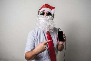 grappige babbo natale van de Kerstman foto