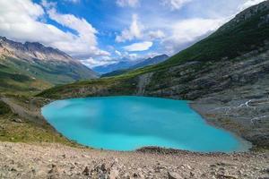 meer huemul in patagonië argentinië foto