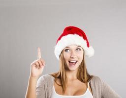 mooie kerst vrouw