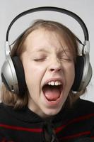 luisteren naar muziek foto