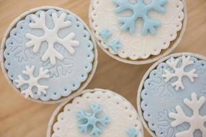 sneeuwvlok cup cake foto