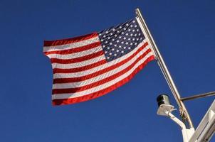 Amerikaanse vlag gedurende de dag