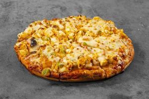 Indiase stijl van Italiaanse gerecht paneer pizza