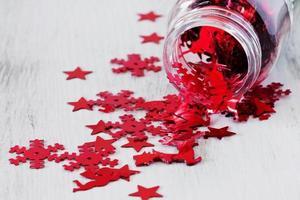 kerst confetti foto