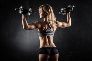 fitness met halters foto