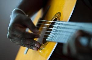 akoestische gitarist