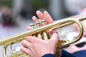 trompet speler foto