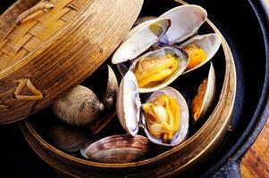 gestoomde clam foto