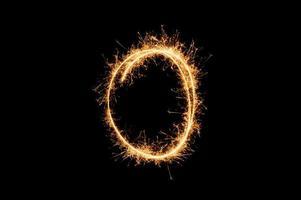 cirkel sparkler ring foto