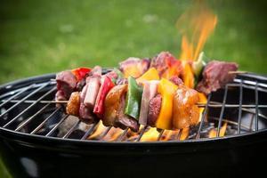 lekkere spiesjes op de grill.