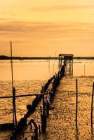 de landschapsfoto, krateng mai pai (bamboehut) foto