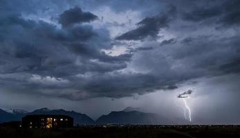 blikseminslag in de provincie utah foto