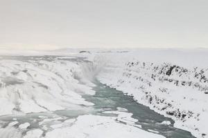 gullfoss waterval, ijsland foto