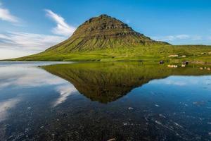kirkjufell mount, snaefellsnes schiereiland, ijsland
