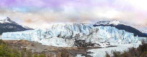perito moreno gletsjer in het los glaciares national park. foto