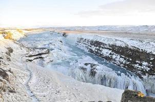 gullfoss waterval in ijsland foto