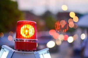 sirene licht voor file op de weg foto