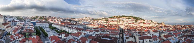 Lissabon stad panorama van bovenaf