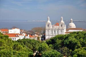 uitzicht vanaf castelo de sao jorge, lissabon, portugal.