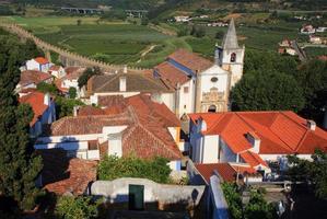 portugal, lissabon. pittoresk, middeleeuws stadje Obidos.