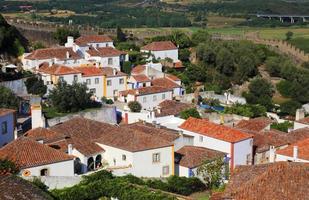 portugal, lissabon. pittoresk, middeleeuws stadje Obidos. foto