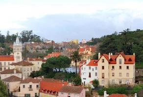 panoramisch uitzicht over de stad sintra