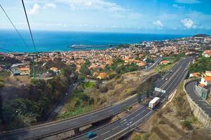 prachtig uitzicht op Funchal, het eiland Madeira